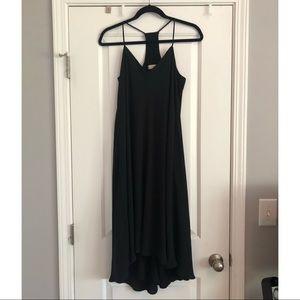 LOFT racerback high low polyester dress
